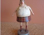 Stop It Girl 1 Miniature Art Doll Schoolgirl Kneesocks