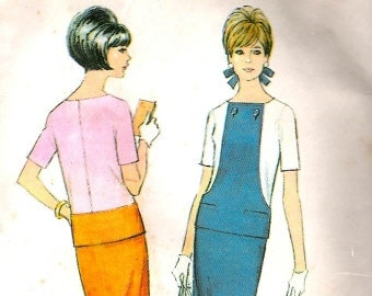McCalls 8666 Vintage Mod Color Block Dress Sewing Pattern B34