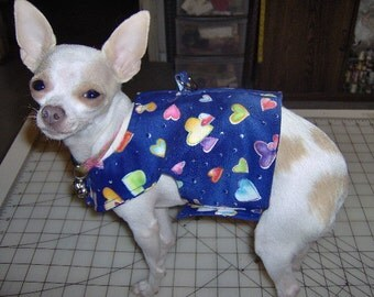 dog vest,dog harness vest with D ring, puffy hearts print