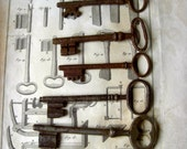 Antique set of old victorian keys.