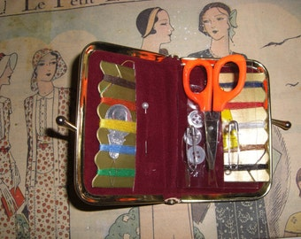 Vintage advertising wallet emergency sewing kit , 60s