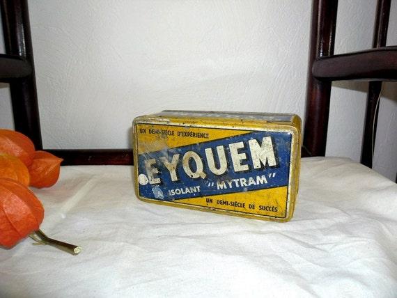 French antique garage spark plugs tin box Citroen