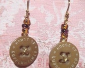 Antique Overall Button Earrings