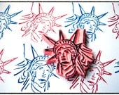 Statue of Liberty Hand Carved Rubber Stamp