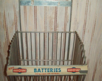 Vintage Ray O Vac Battery Display Basket.