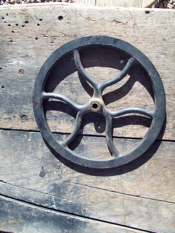 Vintage Cast Iron Pulley.