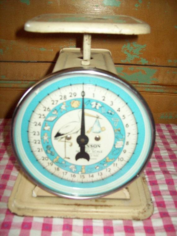 Vintage Kitchen Scales.