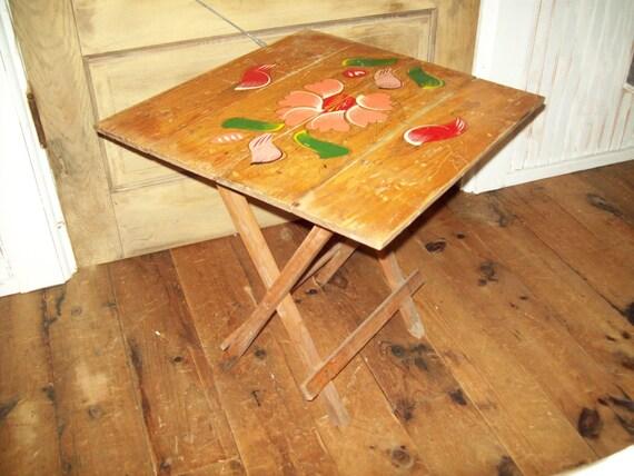 Vintage Folding Wooden Table.