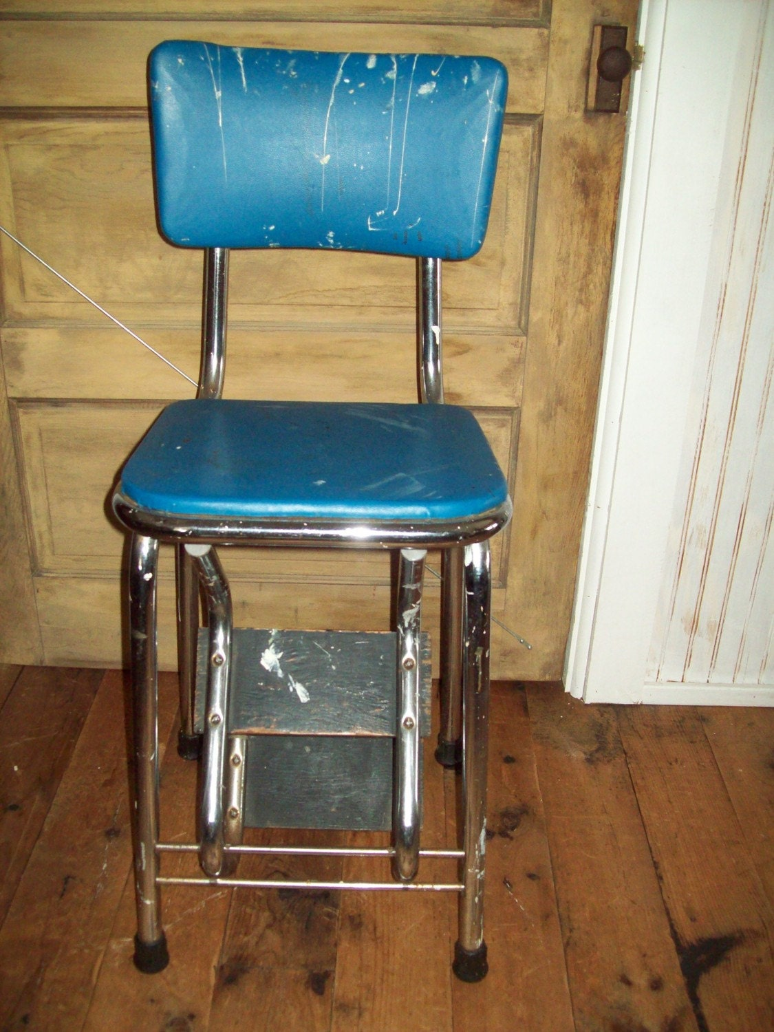 vintage step stool chair. Black Bedroom Furniture Sets. Home Design Ideas