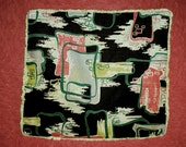 Atomic 1950s Bark Cloth Pillow Sham