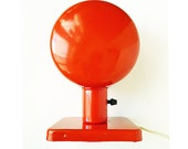RESERVED for Vince Mod Space age Atomic Red Metal Lamp