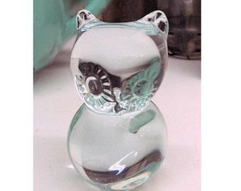 Blown Glass Baby Owl