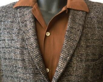 REDUCED 1950 Vintage Atomic Rockabilly Hollywood Flecked Sports Jacket