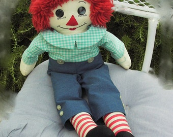 1960s Home-made Raggedy Andy Doll