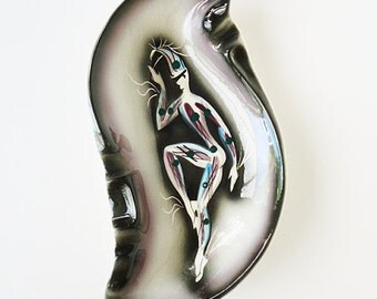 1950's unsigned Marc Bellaire Harlequin ashtray