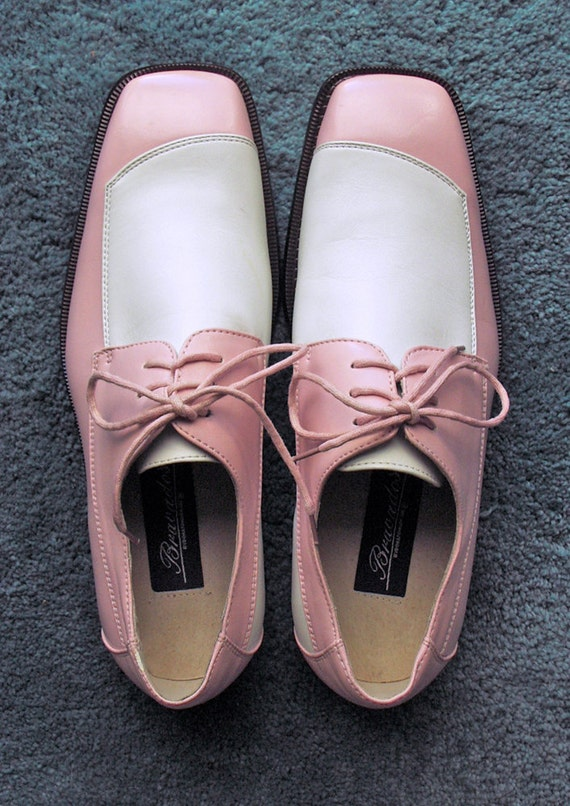 RESERVED for Menji  Two Toned Pink and White Mens Shoes