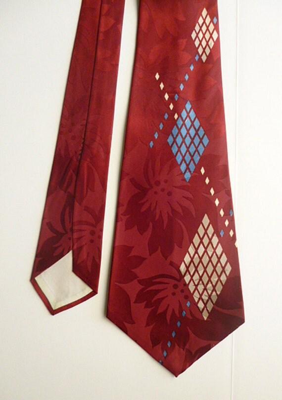 RESERVED 1940s Big Band Era VERY Wide Silk Tie