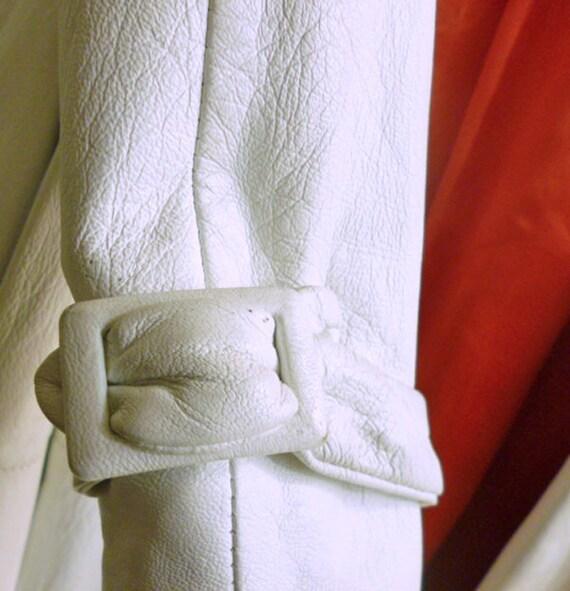 White leather 1950's Swing Coat