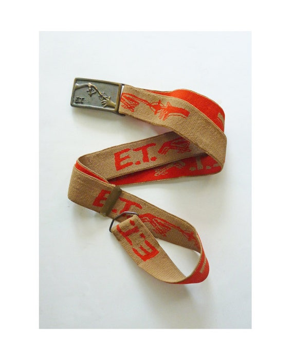 1982 E.T. Brass Buckle by Lee and adjustable elastic belt