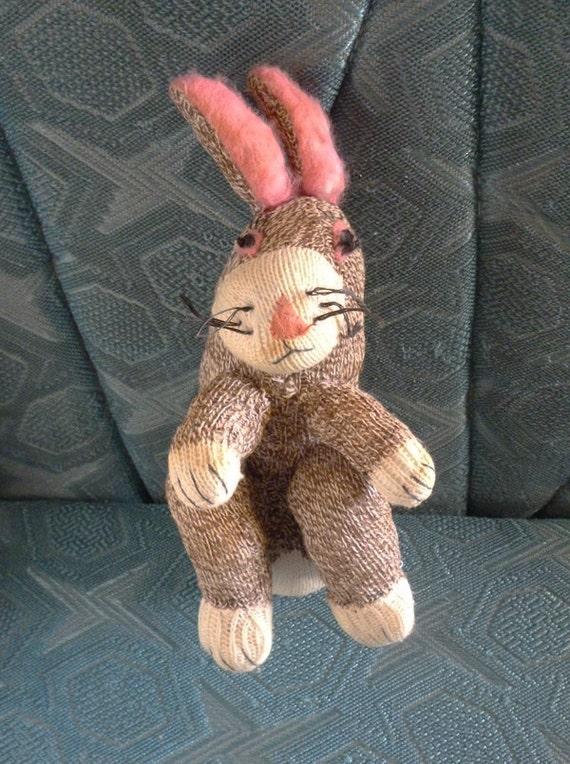 Vintage Sock Rabbit for Easter