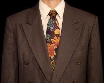 Hand Dyed Silk Pacific Northwest Leaf Tie