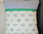 Bible Memory Verse Pillow Cover, John Deer and Navy