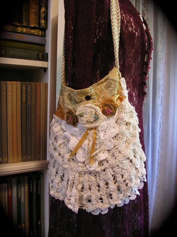 Crochet Doily Purse Soft Cotton Crocheted Doilies Fabric