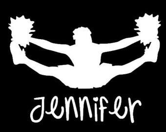 Personalized Cheerleader Decal - Vinyl - Graphic - Sticker
