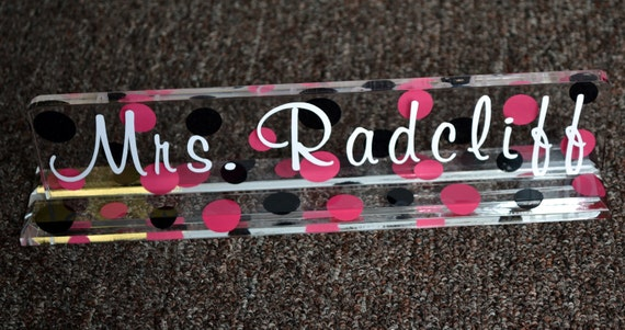 """Personalized Desk Name Plate - 10"""" - TEACHER GIFT - End of the Year - Student Teacher - Graduation"""