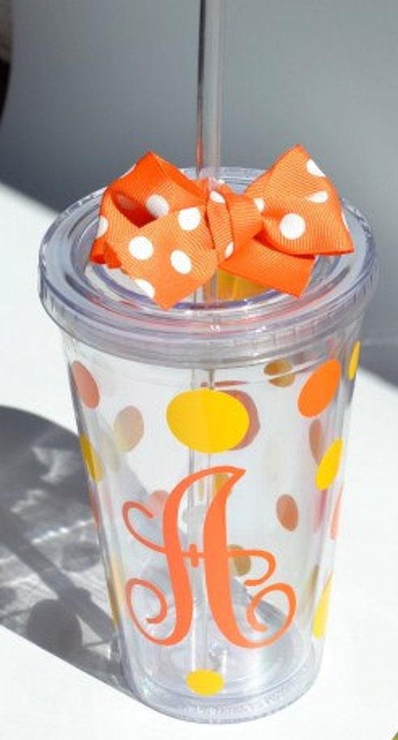 CLEAR Personalized - 16oz - Tumbler cup with Lid & Straw