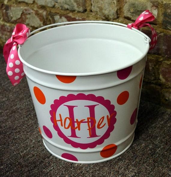 WHITE 10 Quart Bucket - Easter Basket Pail - Halloween Candy Bucket