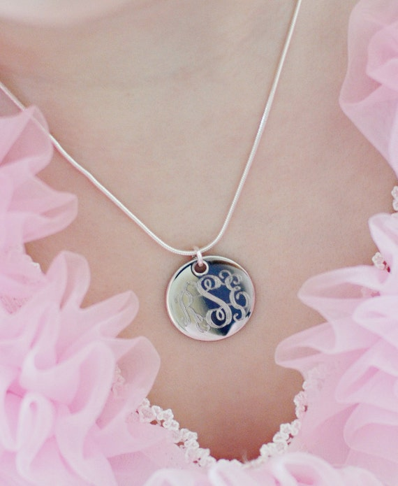 MONOGRAMMED Mini Initial Necklace - Personalized - Birthday Gift