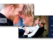 i design. you print. 4x9 double sided wedding invite