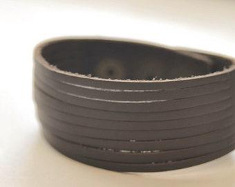 Classic Brown Stripe leather bracelet