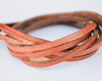 Mocha Brown doublewrapped Magnetic leather bracelet