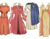 DRESS UP - Paper Doll, Vintage Paper Doll Clothing,  Bridal Shower, Wedding, Scrapbooking, dress up, doll clothes, vintage toys