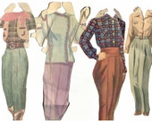 PAPER DOLL - Paper Doll Clothes, Vintage Paper Doll Clothing,  Scrapbooking
