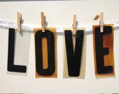 LOVE -  Acrylic Letters,  Black Letters, Wedding Banner, Advertising  Letters, Plexiglas Letter, Wedding Decor