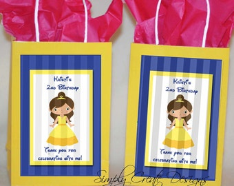 SALE Princess Favor Tag 4x6 JPEG Digital File Personalized