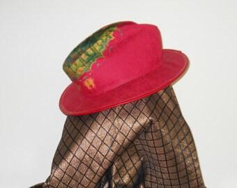 CUSTOM TIE DYED STETSON-FEDORA STYLE BRIM HAT