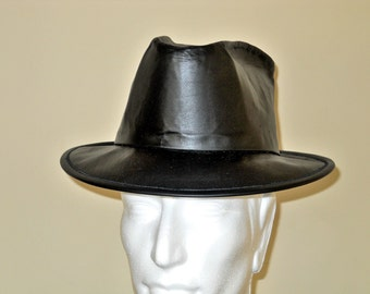 Custom Cowhide Leather Stetson-Fedora Hat - CONSERVATIVE