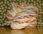 Lemon Raspberry Snow Cone Handspun Yarn