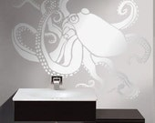Octopus Stencil for Walls - OCTOPUS no. 1 - Wall STENCIL, Reusable - DIY Home Decor/Wall Decor