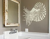 Stencil for walls - NAUTILUS - Reusable Wall STENCIL - Durable Wall Art/DIY Home Decor