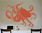 Stencil - Large OCTOPUS - Wall STENCIL - Reusable/Reversible DIY Wall Art/Home Decor