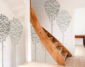 TREE STENCIL for Walls - LINDEN Tree - Large, Reusable Wall Stencil - 5 ft. tall