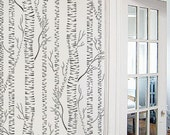 STENCIL for Walls - Silver Birches - Allover tree stencil