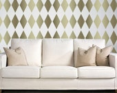 STENCIL for Walls - HARLEQUIN Diamond Pattern - Wall Stencil - Reusable, DIY Wall Decor - Easier than Wallpaper