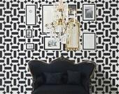 STENCIL for Walls - Moroccan Tile no. 2 - Large, REUSABLE stencil, Easy DIY Home Decor - Allover Pattern