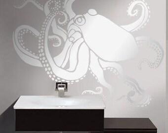 Octopus Stencil for Walls - OCTOPUS no. 1 - Wall STENCIL, Reusable - DIY Home Decor/Wall Decor